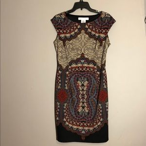 Maggy London graphic paisley design Poly jersey.